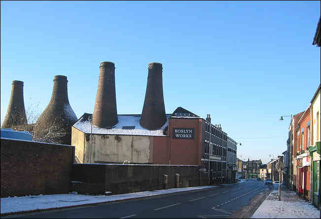 Roslyn Works, Uttoxeter Road, Looking towards Longton