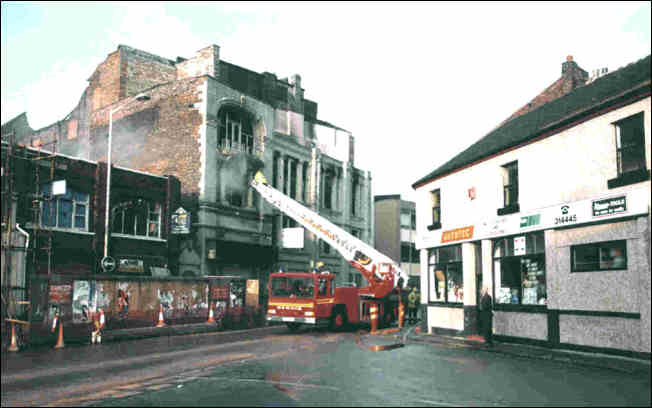Fire at the Longton Empire in 1993