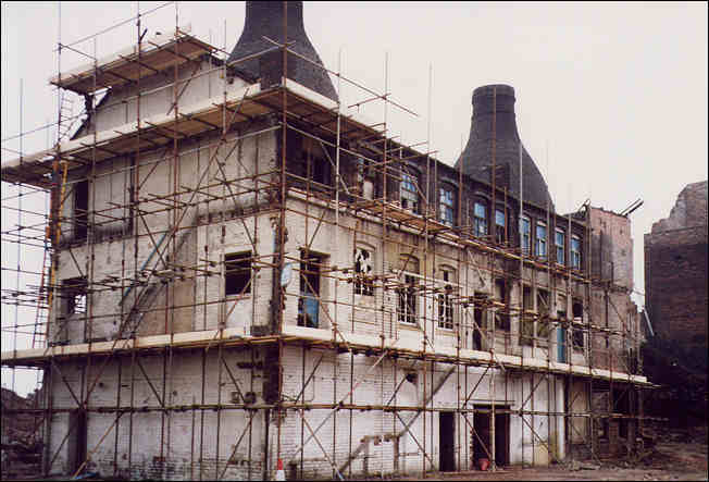 the works undergoing restoration in 1993