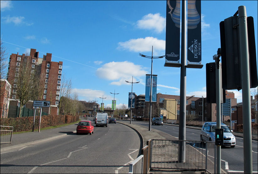 Pottery Companies Banners On The Potteries Way Ring Road