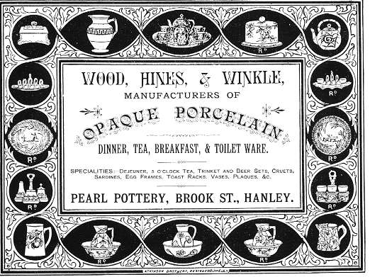 Wood, Hines and Winkle Advert of 1884