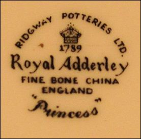 Ridgway Potteries Ltd. Royal Adderley