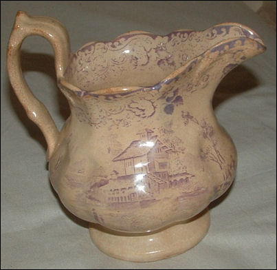 Jug in the Swiss Scenery pattern