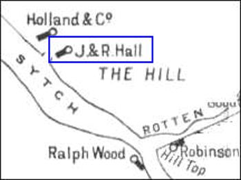 map showing the location of the Sytch Pottery