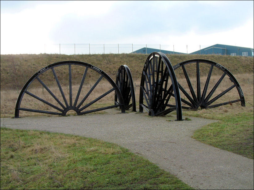 Two Wheel Dolly >> Colliery Pithead Wheels at Berryhill Fields