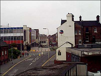 Top of Lichfield Street and Albion Square - looking into Stafford Street