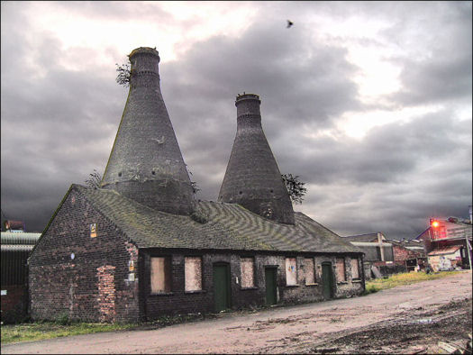 bottle ovens at the Falcon pottery, Sturgess Street, Stoke