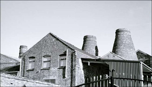 kilns at the rear of the Sutherland Works (Hudson & Middleton)