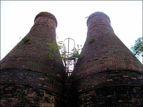 calcining kilns of 1887 in the Cliff Vale Potteries of Twyfords