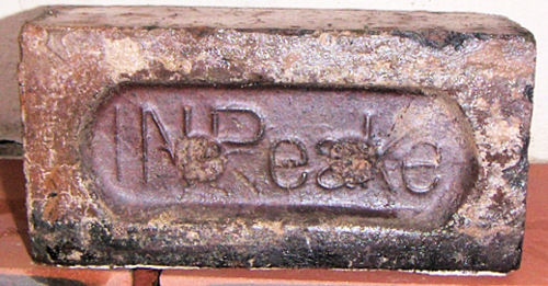 J N Peake - a staffordshire brick from Peake's Tile Works, Clayhills, Tunstall
