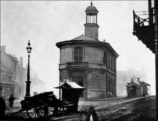 Tunstall town hall in Market Square c.1885