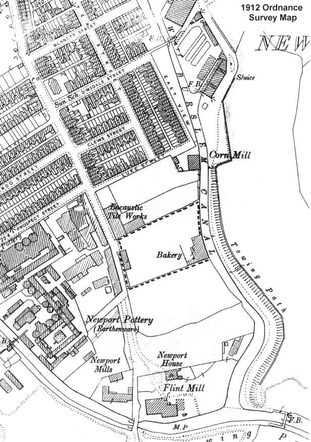 1912 Ordnance Survey Map of the Burslem Branch Canal area