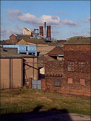 The chimneys in background are those built in 1900 in Furlong Lane