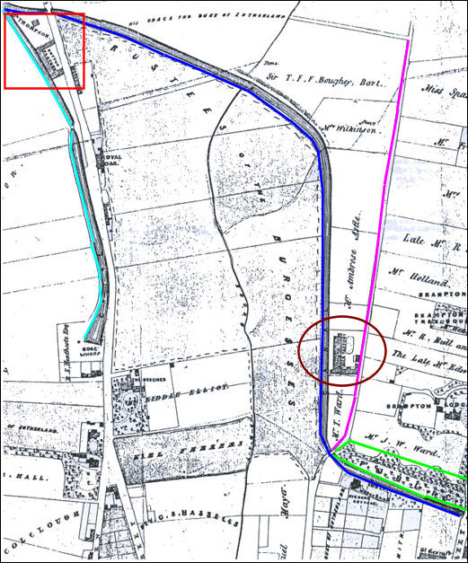 NEWCASTLE UNDER LYME JUNCTION CANAL ROUTE