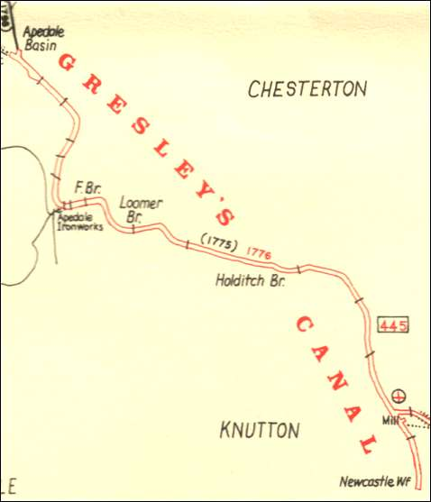 the route of Gresley's  Canal