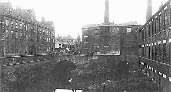 The tunnels where the canal enters Stoke town c.1890
