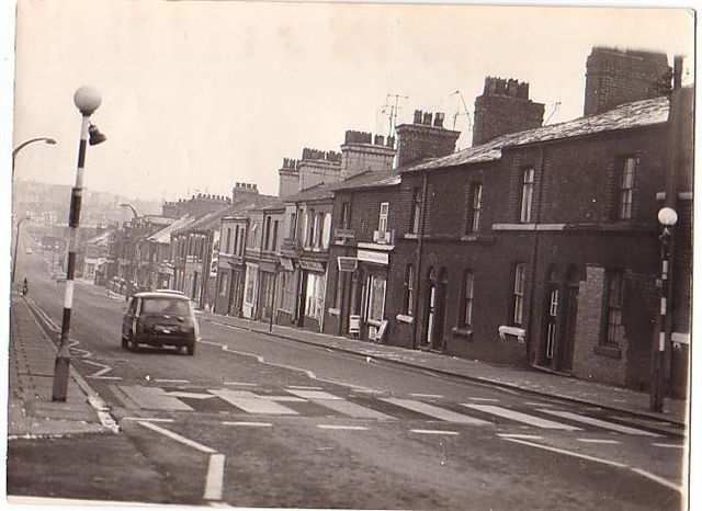 Waterloo Road, looking downwards to Vale Place and Hanley