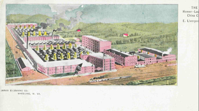 The Homer - Laughlin China Company works at East Liverpool