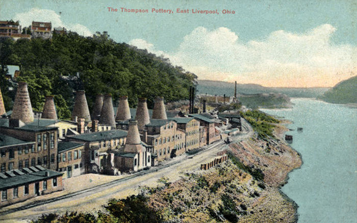 The Thompson Pottery, East Liverpool, Ohio