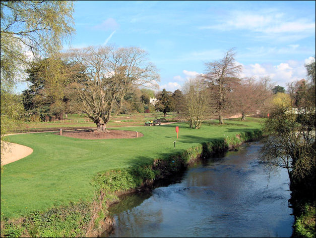 the River Trent as it passes through Trentham Gardens