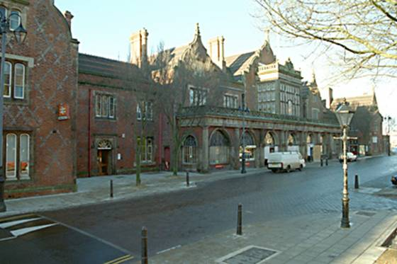 Stoke-on-Trent Railway Station. Laid out in 1847 and completed in 1848 by
