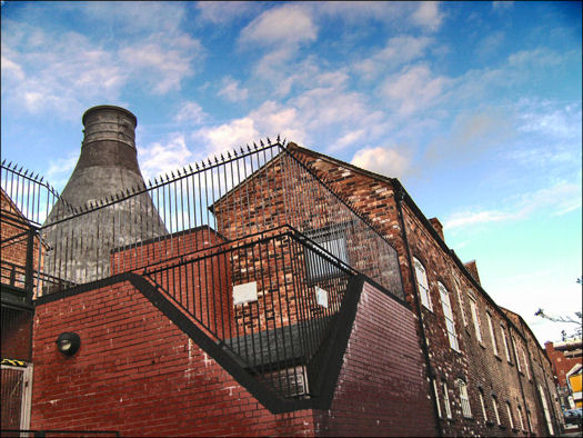Dudson pottery works and bottle kiln, Hanley