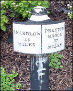 Milepost on canal - near Whieldon Rd.