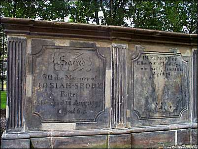 Tomb of Josiah Spode I & his wife