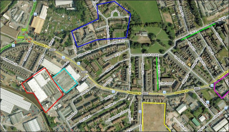 Google Maps 2008 map of the Dalehall area