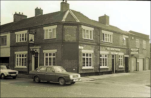 The Great Britain public house was on the end of a terraced row.