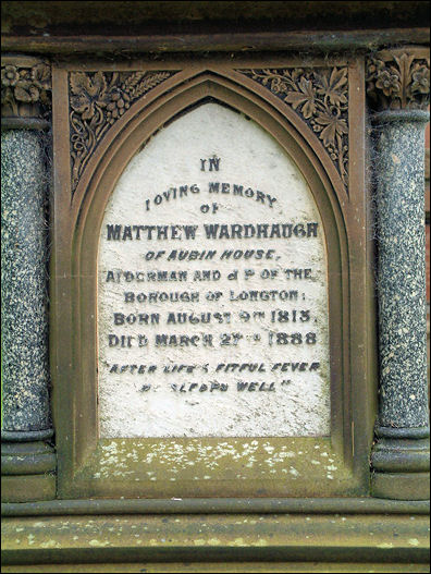 Grave memorial of Matthew Wardhaugh