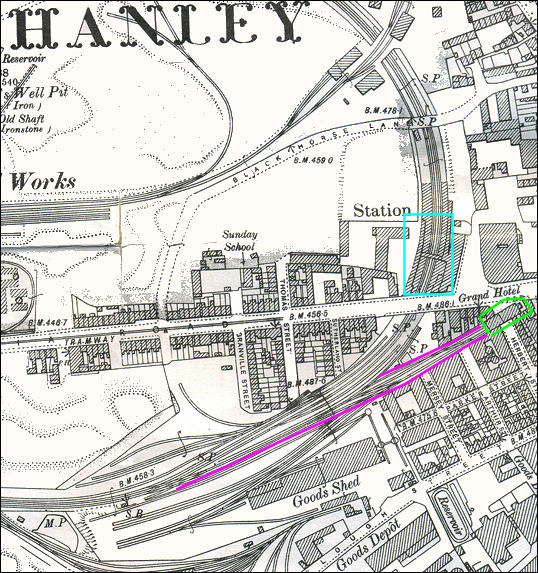 Hanley Station area on the Loop Line - 1898
