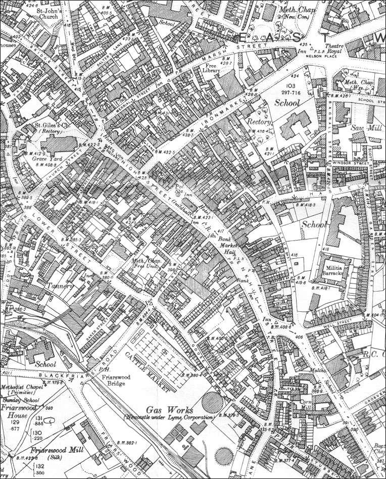 NewcastleunderLyme town centre 1898