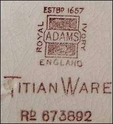dating adams pottery Whilst there is no longer an adams pottery,  documentary evidence dating to 1840-41 gives the number of employees at the  william adams & son(s) (potters) ltd.
