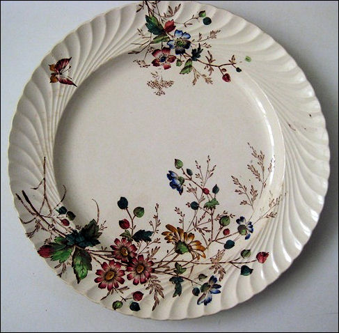 Plate in the FLORIBEL pattern