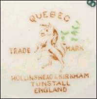 Hollinshead and Kirkham back stamps using the unicorn mark