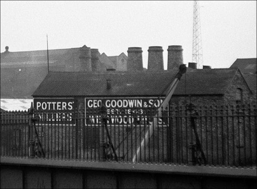 behind the Westwood Mill of George Goodwin can be seen the bottle kilns of the Trent Pottery, established in 1867 by Livesley & Davis