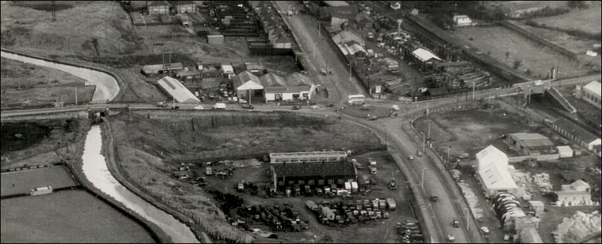 Bailey's Garage at the corner of the roundabout at Leek Road - c.1950's