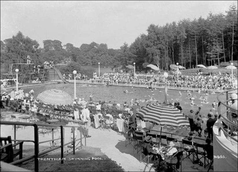 Postcards Of Trentham Gardens Swimming Pool Railway