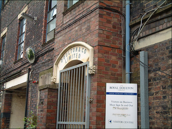 entrance to the original Doulton & Co. Ltd china works