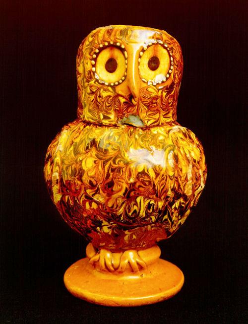 A North Staffordshire Slipware Owl Jug