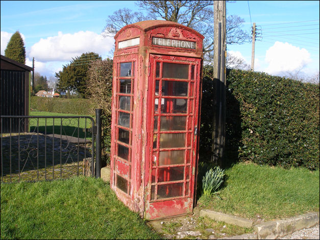 Red Telephone Box At Bemersley Road In Stoke On Trent