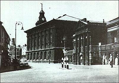 Town Hall and Meat Market (foreground)