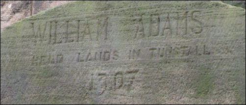 William Adams held lands in Tunstall 1307