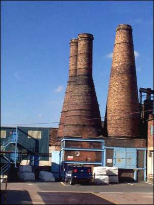 Calcining kilns at one of Bakers Works in Fenton