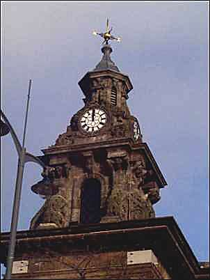The clock tower - minus the 'Angel'