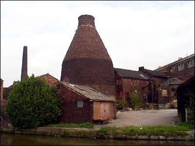 The rear of the factory showing the remaining bottle kiln -