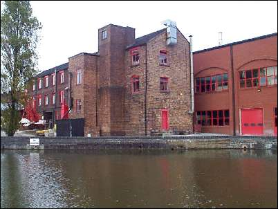The rear of the Steelite factory on the Trent & Mersey Canal, showing the blending of the old and new.