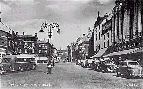Postcard of Parliament Row, Hanley