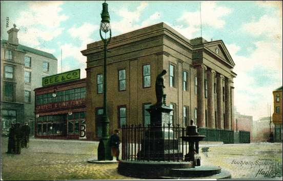 Hanley's former Town Hall, and also former Lloyds Bank